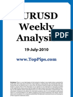 EURUSD Weekly Analysis 19 July 2010
