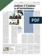 La prevenzione è l'anima della lotta al terrorismo