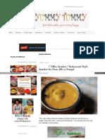 Www Yummytummyaarthi Com 2012 04 Tiffin Sambar Restaurant St