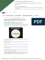 Analog-To-Digital and Digital-To-Analog Converters – Electronics Post