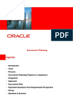 Oracle Succession Planning