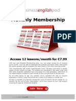 Monthly Member Promo