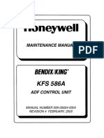 Kfs 586a, Maintenance Manual