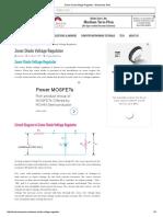Zener Diode Voltage Regulator – Electronics Post