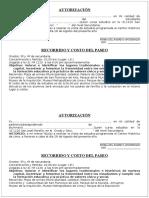 Autorizacion de Los Padres Para Metropolitano