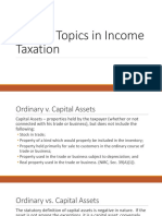 Special Topics in Income Taxation