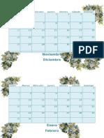 Calendario Uno
