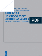 (Beihefte Zur Zeitschrift Für Die Alttestamentliche Wissenschaft 443) Eberhard Bons, Jan Joosten, Regine Hunziker-Rodewald (Eds.)-Biblical Lexicology_ Hebrew and Greek. Semantics – Exegesis – Translat