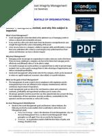 Organisational Integrity Module 1 Summary