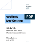 Hocheffiziente Turbo-Wärmepumpe