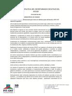 DeclaracionSecretariado Ejecutivo 19de Abril 1