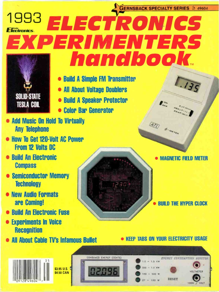 Experimenters Handbook 1993 Amplifier Electromagnetism For Mosfet Cut 40 Plasma Cutter Circuit Board Pc 220v