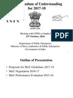 MoU Evaluation 2015-16