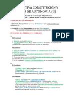 Comparativa Constitución y Estatuto de Autonomía (II)