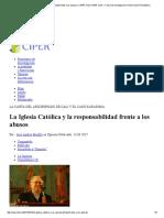La Iglesia Católica y La Responsabilidad Frente a Los Abusos _ CIPER Chile CIPER Chile » Centro de Investigación e Información Periodística