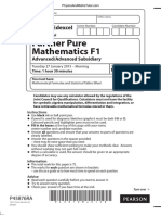 January 2015 (IAL) QP - F1 Edexcel