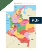 Mapa Politico y Generalidades de Colombia