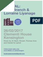 Gary Branch & Lorraine Liyanage Clementi Recital