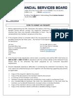 FSB Pensions Enquiry Form