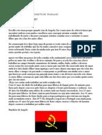 PROJECTO DE  TRABALHO sofia