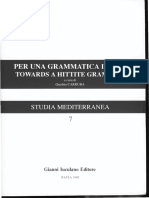 Per una grammatica ittita/ Towards a Hittite grammar-Studies in the Hittite Particles II