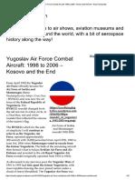 Yugoslav Air Force Combat Aircraft_ 199..
