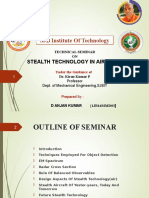 Technical seminar on STEALTH TECHNOLOGY IN AIRCRAFT