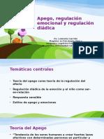 Apego, Regulación Emocional y Regulación Diádica OPP BT 2016