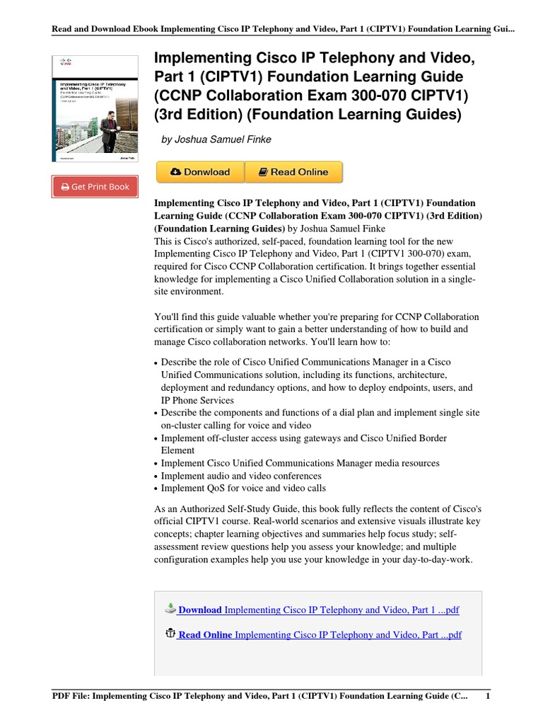 1587144514 Implementing Telephony Foundation Learning Collaboration