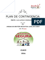 Plan de Contingencia Lluvias e Inundaciones