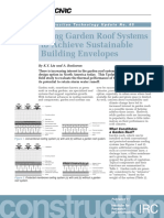 Using Garden Roof Systems to Achieve Sustainable Building Envelopes
