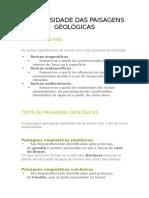 A Diversidade Das Paisagens Geológicas