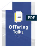 4 Week Offering Talks