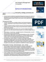 Organisational Integrity Module 4 Summary