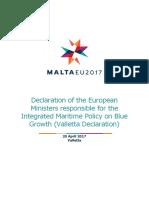 Valletta Declaration IMP Blue Growth