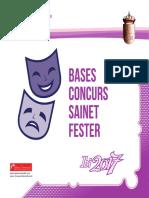 Diptico Concurso de Sainete 2017
