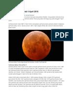 Gerhana Bulan Total 4 April 2015