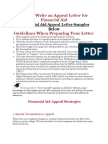 How to Write an Appeal Letter for Financial Aid
