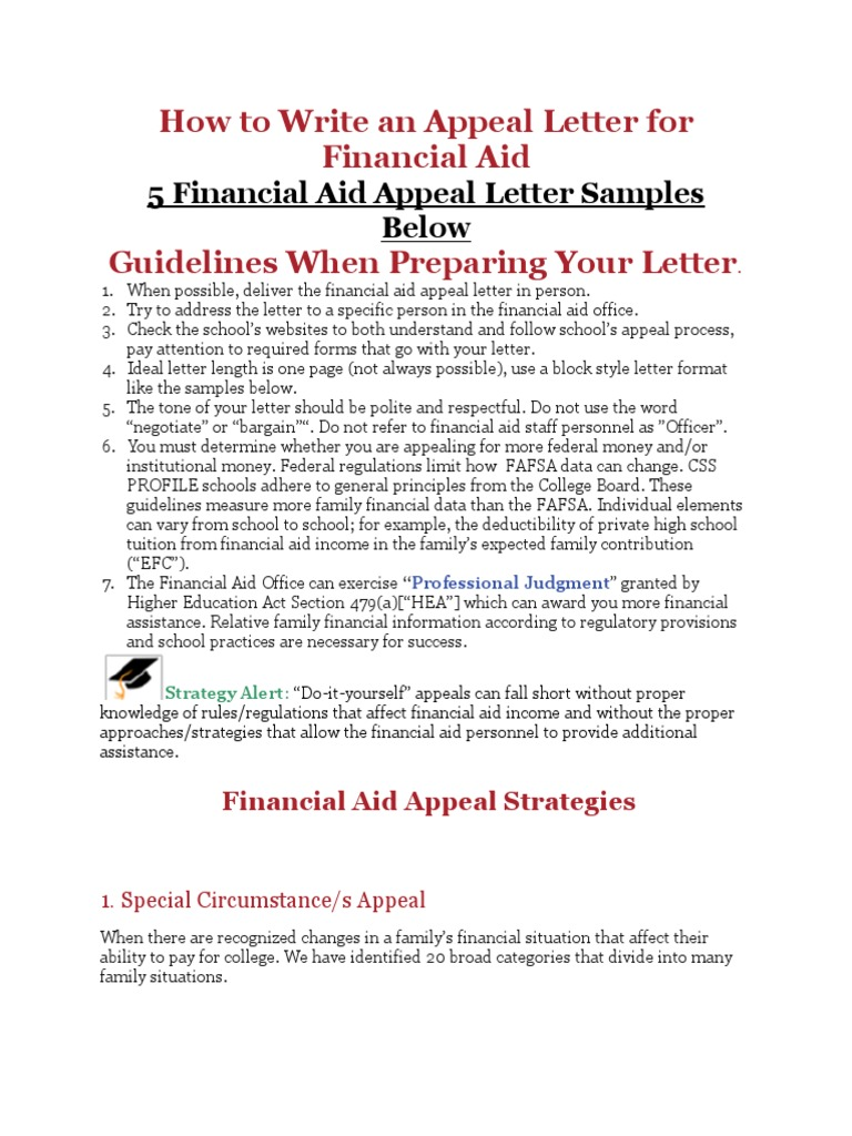 Special Circumstances Financial Aid Letter Example from imgv2-2-f.scribdassets.com