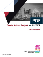Youth Action Project Recommendations - Justice April 2017