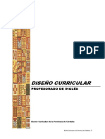 Diseño Curricular Prof Ingles 2013