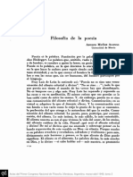 Filosofia de La Poesia, Adolfo Muñoz