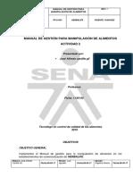 Manual de Gestion Para Manipulacion de Alimentos - Actividad 2