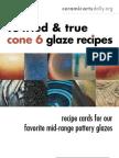 10 Cone 6 Recipes 061109