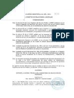 Acuerdo Ministerial MRL 2014 0222