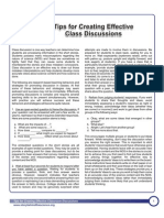 Tips for Creating Effective Class Discussion