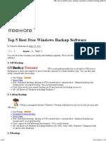 Top 5 Best Free Windows Backup Software