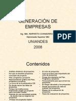 Presentación Principal(2)Generación de Empresas- Emprendimiento. Juan S. Rovayo M-Amparito Chamorro V.