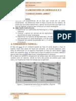 Informe de Lab. de Hidráulica Nº2 Conducciones Libres