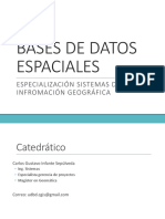 Bases de Datos Espaciales-Introduccion